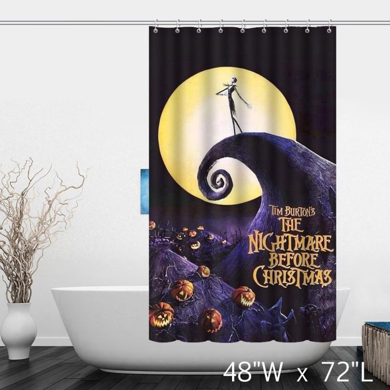 Nightmare Before Christmas Bathroom  The Nightmare Before Christmas Halloween Bathroom Shower