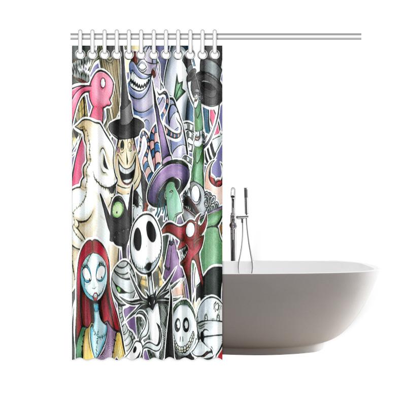 Nightmare Before Christmas Bathroom  The Nightmare Before Christmas Waterproof Bathroom Shower