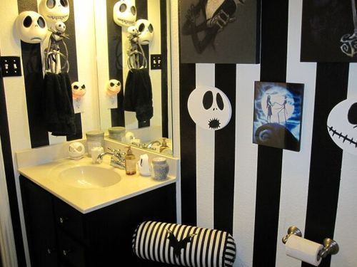 Nightmare Before Christmas Bathroom  Nightmare Before Christmas Inspired Room This is a guest