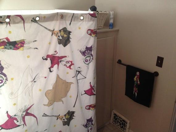 Nightmare Before Christmas Bathroom  Nightmare Before Christmas vintage shower curtain