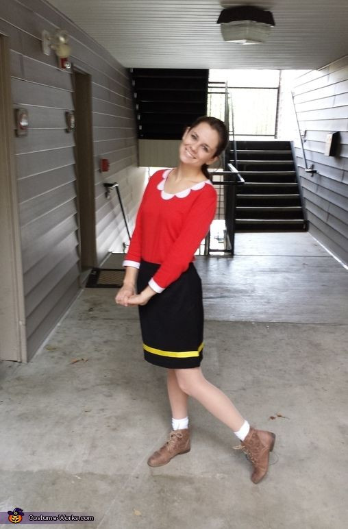 Olive Oyl Costume DIY  10 best POPEYE & Olive oyl diy costume images on Pinterest