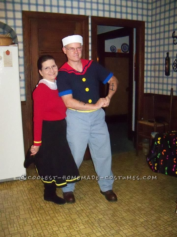 Olive Oyl Costume DIY  Coolest Popeye and Olive Oyl Couple Halloween Costumes