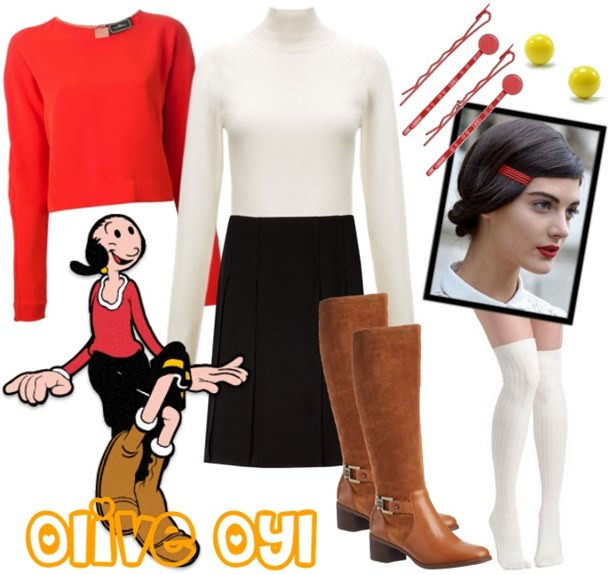 Olive Oyl Costume DIY  Easy and Stylish Halloween Costume Ideas from Your Closet