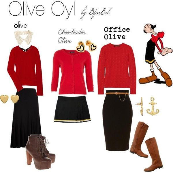 Olive Oyl Costume DIY  Cheap and Easy Popeye and Olive Oyl tons of Halloween