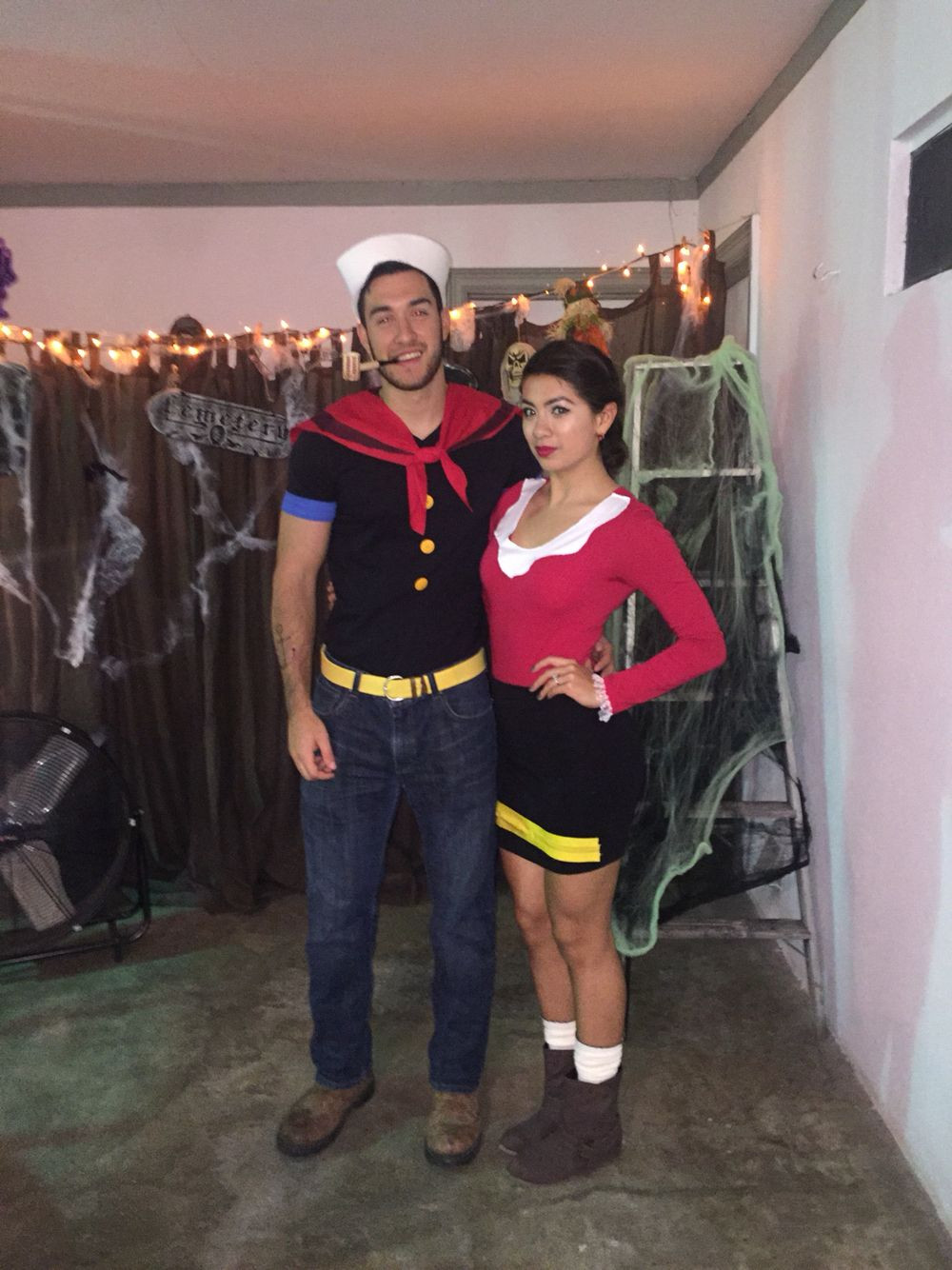 Olive Oyl Costume DIY  Diy Olive oyl and popeye costume