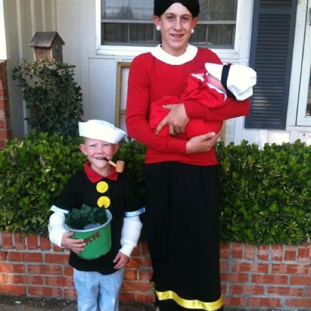 Olive Oyl Costume DIY  Homemade costume Popeye Olive Oyl and Sweet Pea