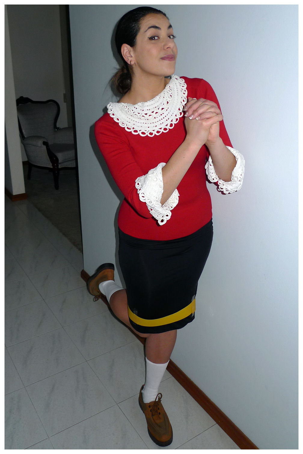Olive Oyl Costume DIY  Olive Oil from Popeye Costume