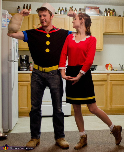 Olive Oyl Costume DIY  Popeye and Olive Oyl Costume