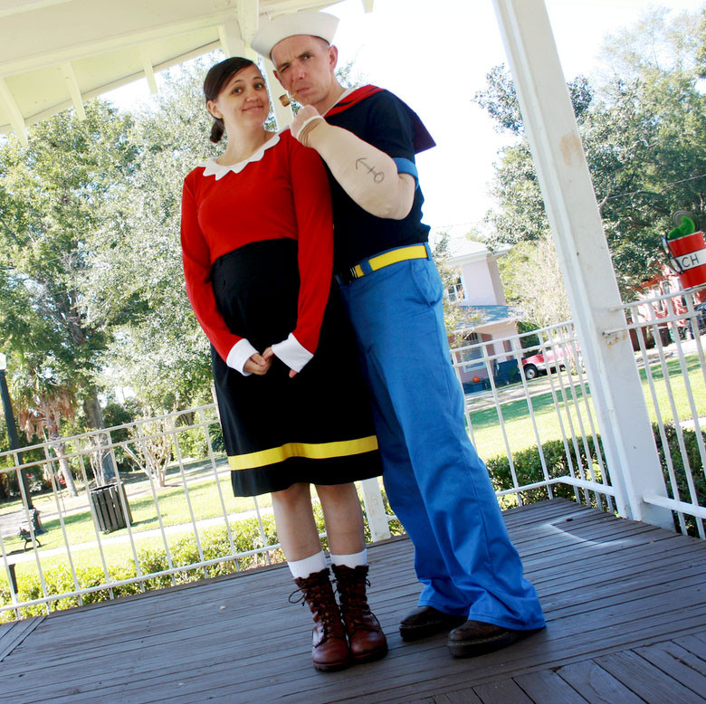 Olive Oyl Costume DIY  10 DIY Couples Halloween Costumes Shrimp Salad Circus