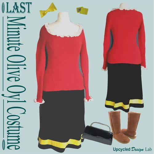 Olive Oyl Costume DIY  108 best costumes images on Pinterest