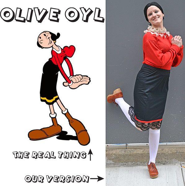 Olive Oyl Costume DIY  Olive Oyl costume DIY Halloween Halloween