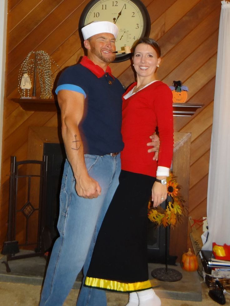 Olive Oyl Costume DIY  This Popeye shirt is easy popeye & olive oyl costumes