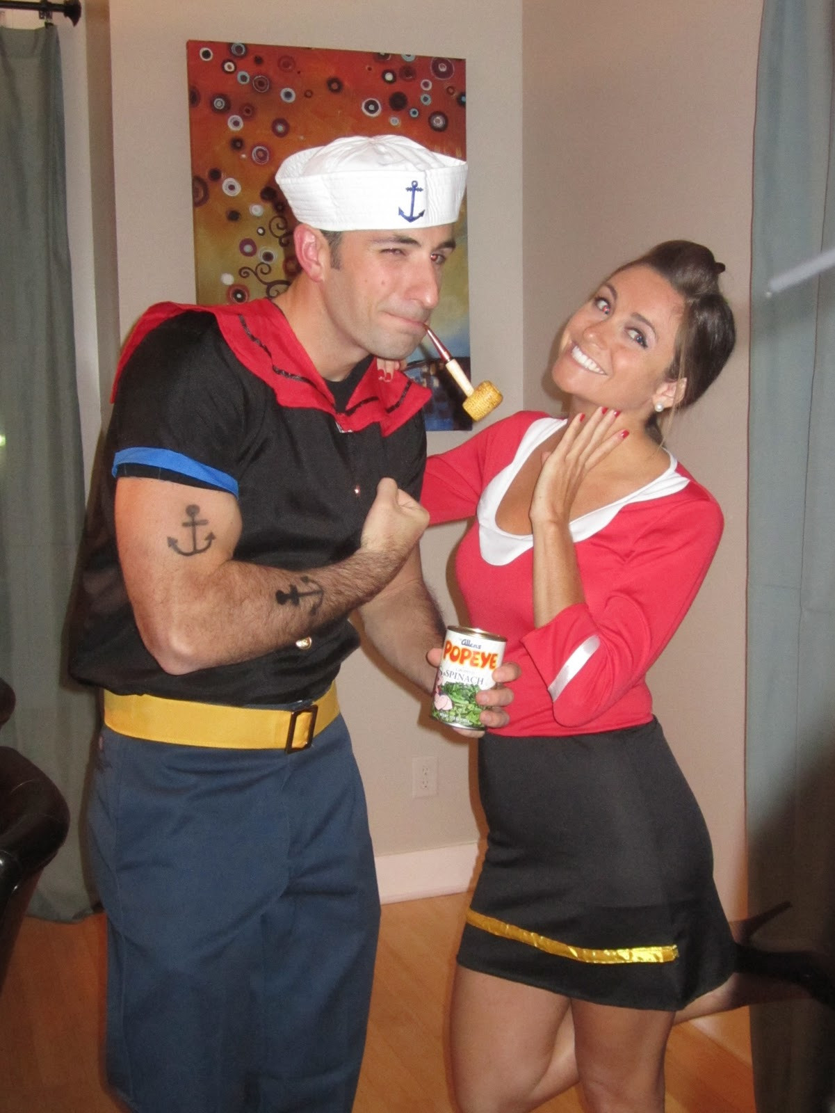 Olive Oyl Costume DIY  25 Genius DIY Couples Costumes