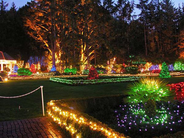 Oregon Garden Christmas  Shore Acres Gardens