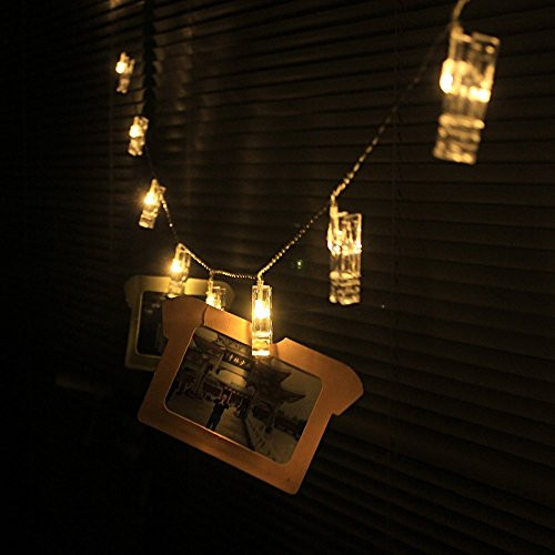 Outdoor Christmas Light Clips  30 LED Clips String Lights Indoor Outdoor