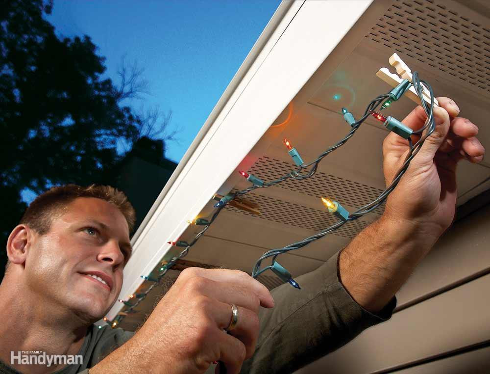 Outdoor Christmas Light Clips  9 Handy Holiday Decorating Tips