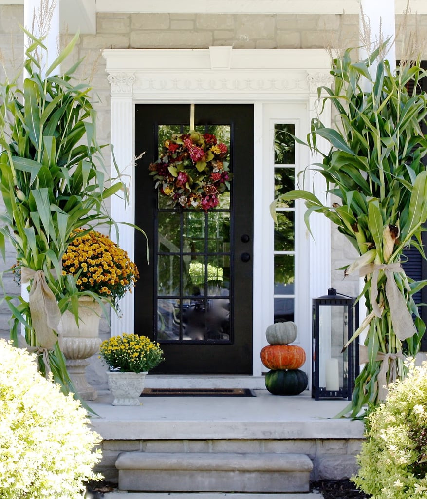 Outdoor Fall Decorations  How to Decorate Your Porch For Fall
