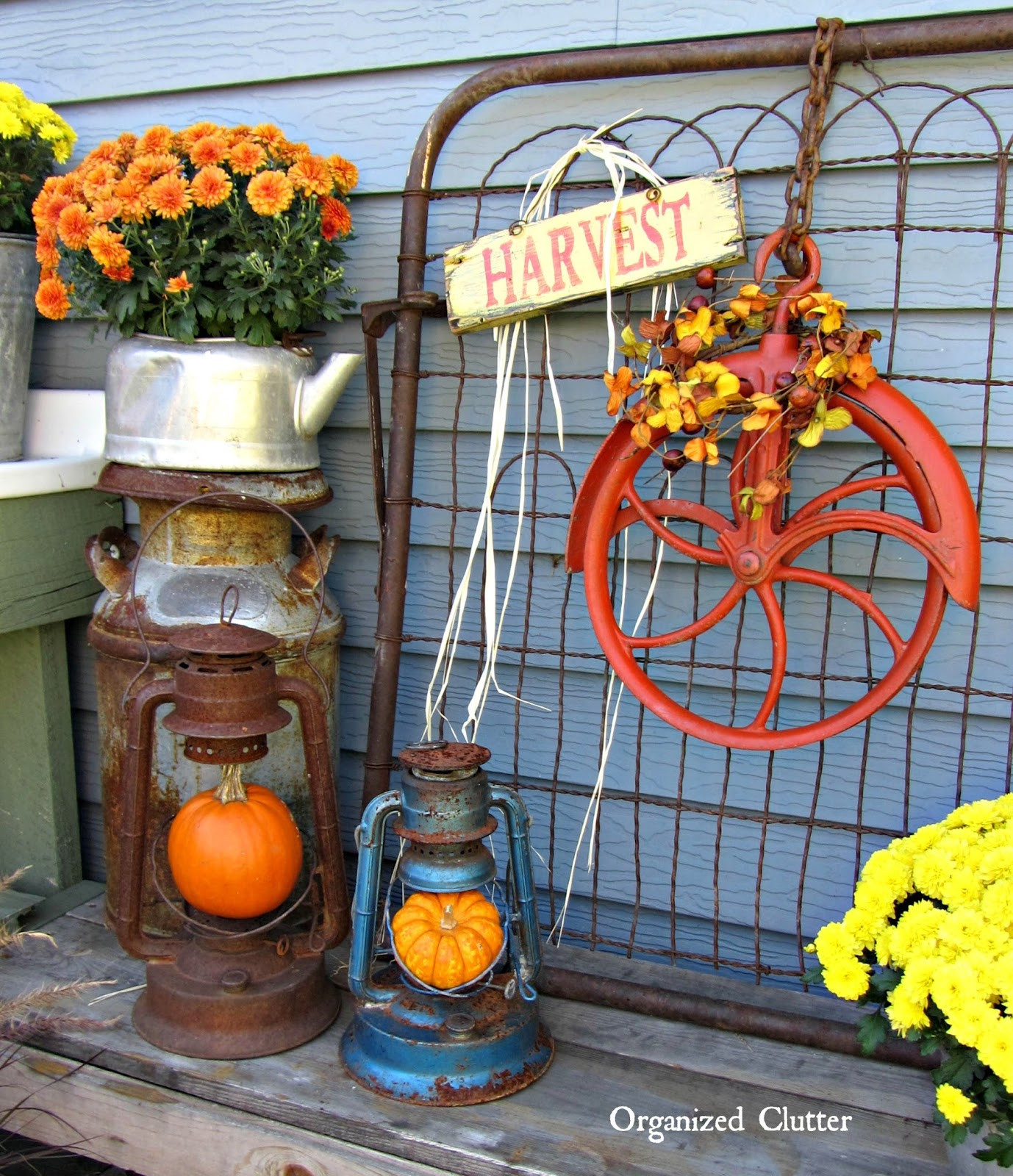 Outdoor Fall Decorations  Fall Outdoor Decor a SALVAGE STYLE Event