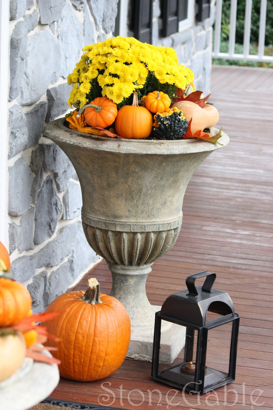 Outdoor Fall Decorations  Outdoor Fall Decor StoneGable