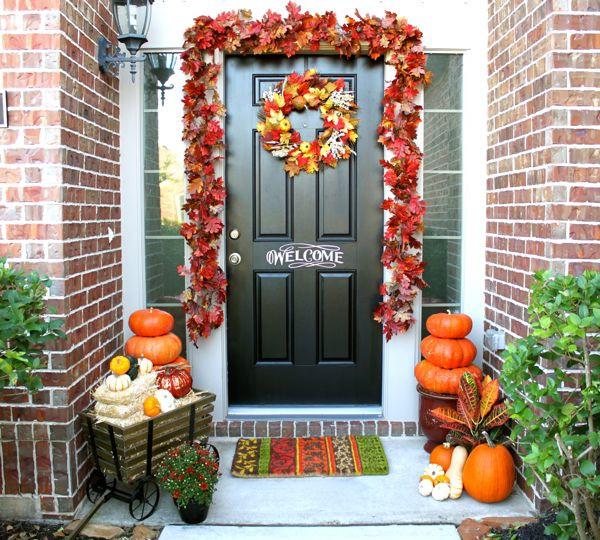 Outdoor Fall Decorations  Pumpkin Adorned Patios Decor Ideas