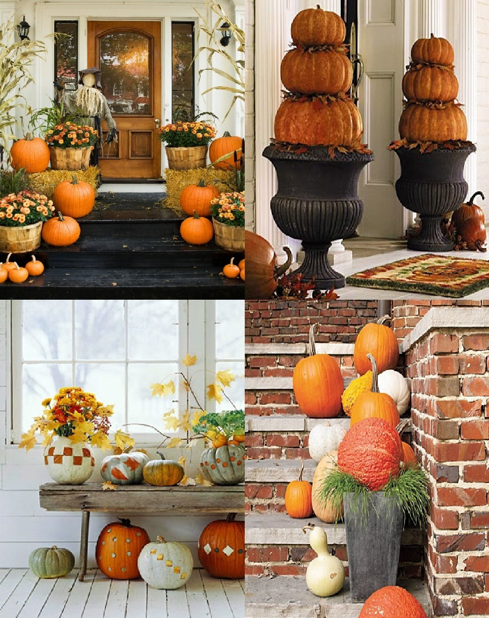 Outdoor Fall Decorations  Autumn Outdoor Decorations Autumn Posters Picture
