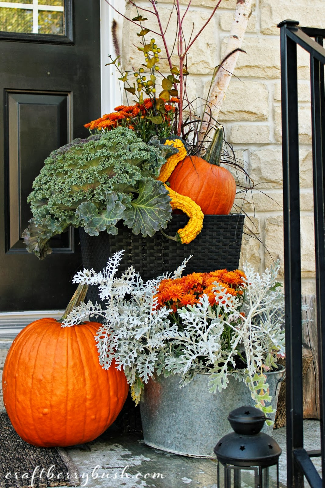 Outdoor Fall Decorations  Fall Front Porch