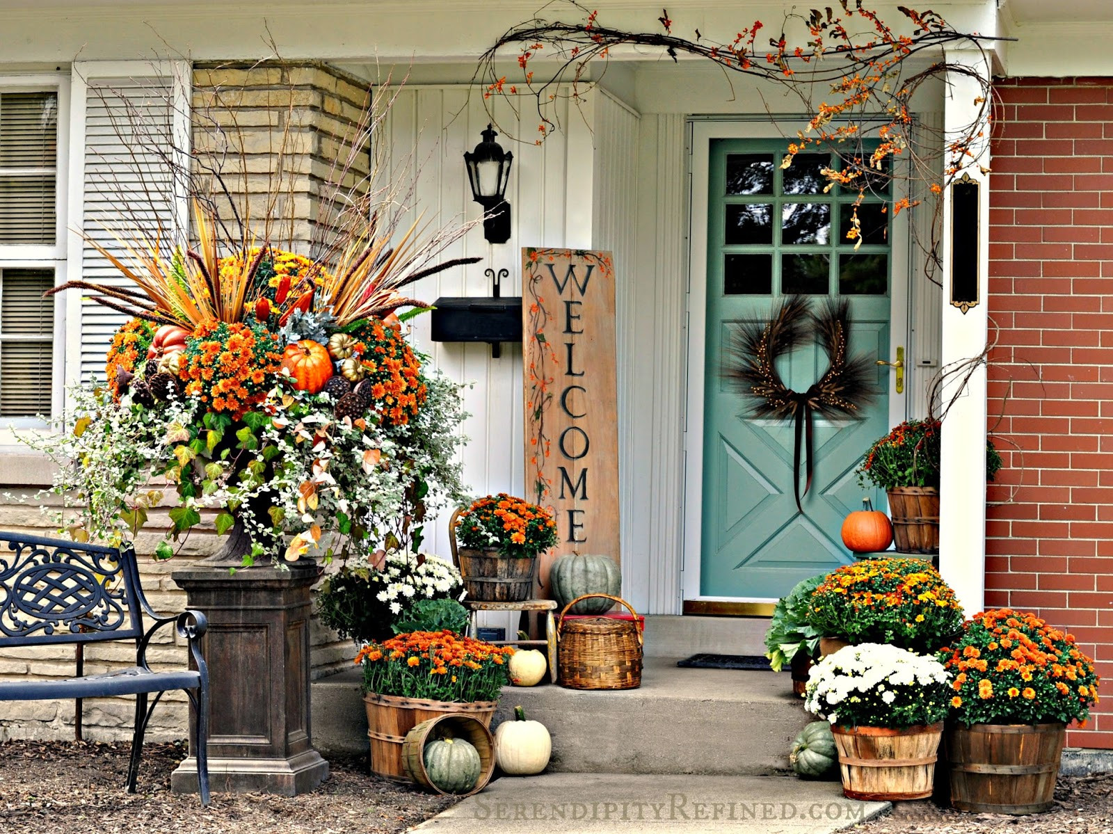 Outdoor Fall Decorations  Fabulous Outdoor Decorating Tips and Ideas for Fall ZING