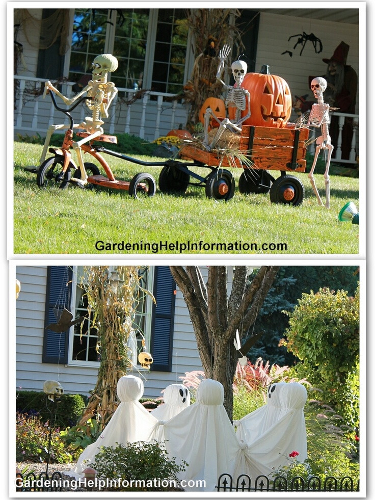 Outdoor Halloween Decorations Ideas  Hilarious Skeleton Decorations For Your Yard on Halloween