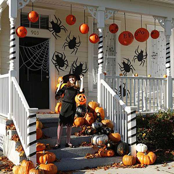 Outdoor Halloween Decorations Ideas  Top 41 Inspiring Halloween Porch Décor Ideas