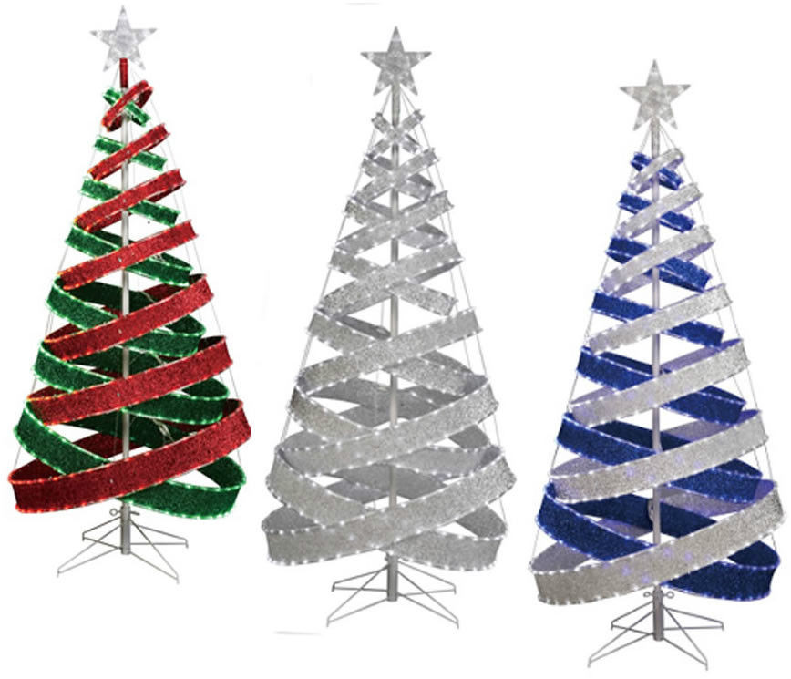 Outdoor Light Up Christmas Tree  4 INDOOR OUTDOOR LED TAPE LIGHT SPARKLE FABRIC RIBBON