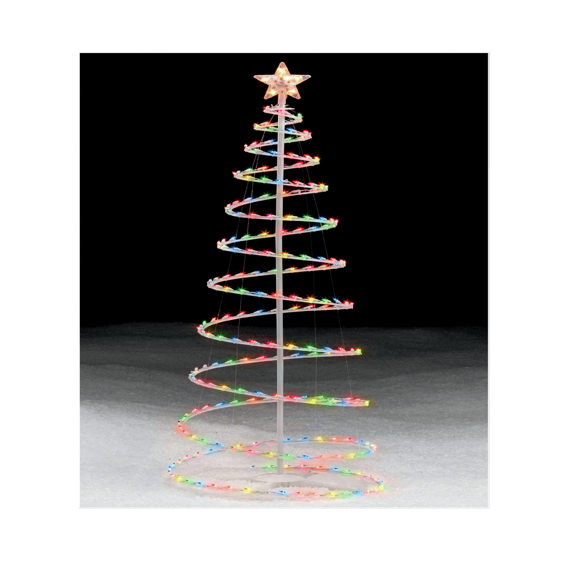 Outdoor Light Up Christmas Tree  6 Multicolor Lighted Spiral Christmas Tree An Occasion