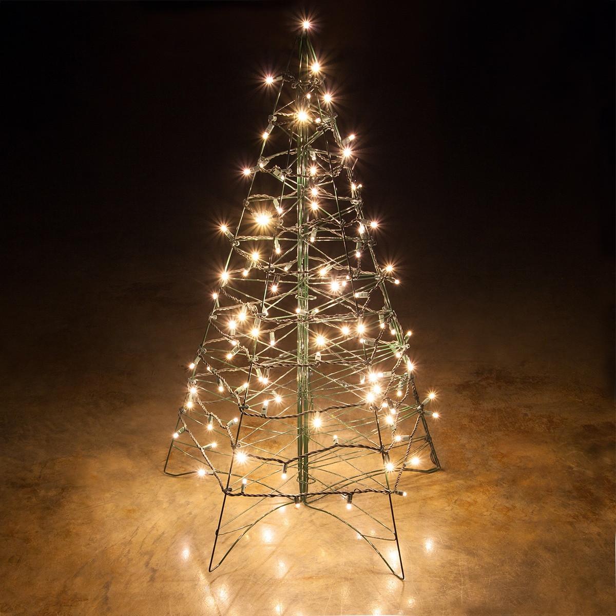 Outdoor Light Up Christmas Tree  Lighted Warm White LED Outdoor Christmas Tree