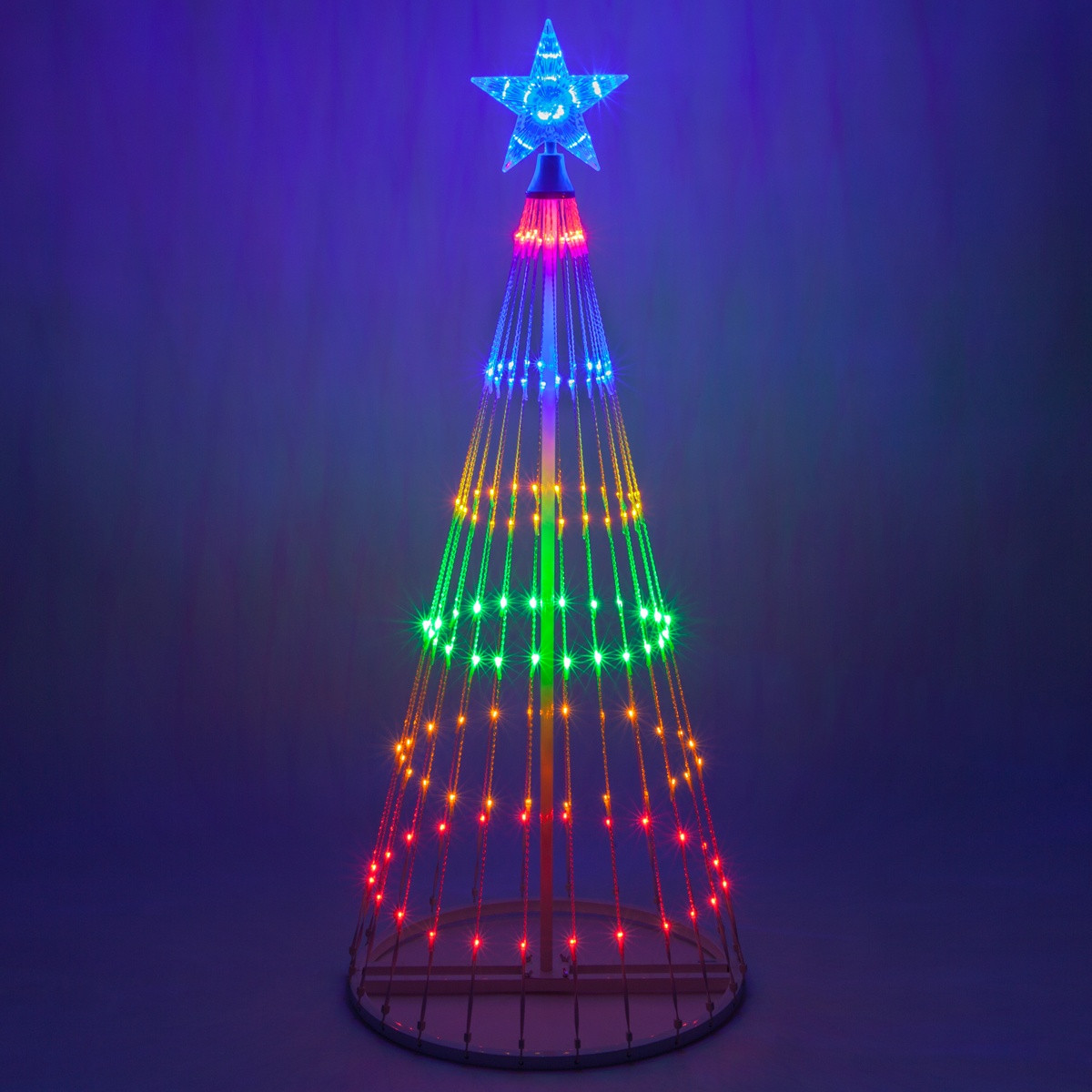 Outdoor Light Up Christmas Tree  Multicolor LED Animated Outdoor Lightshow Tree