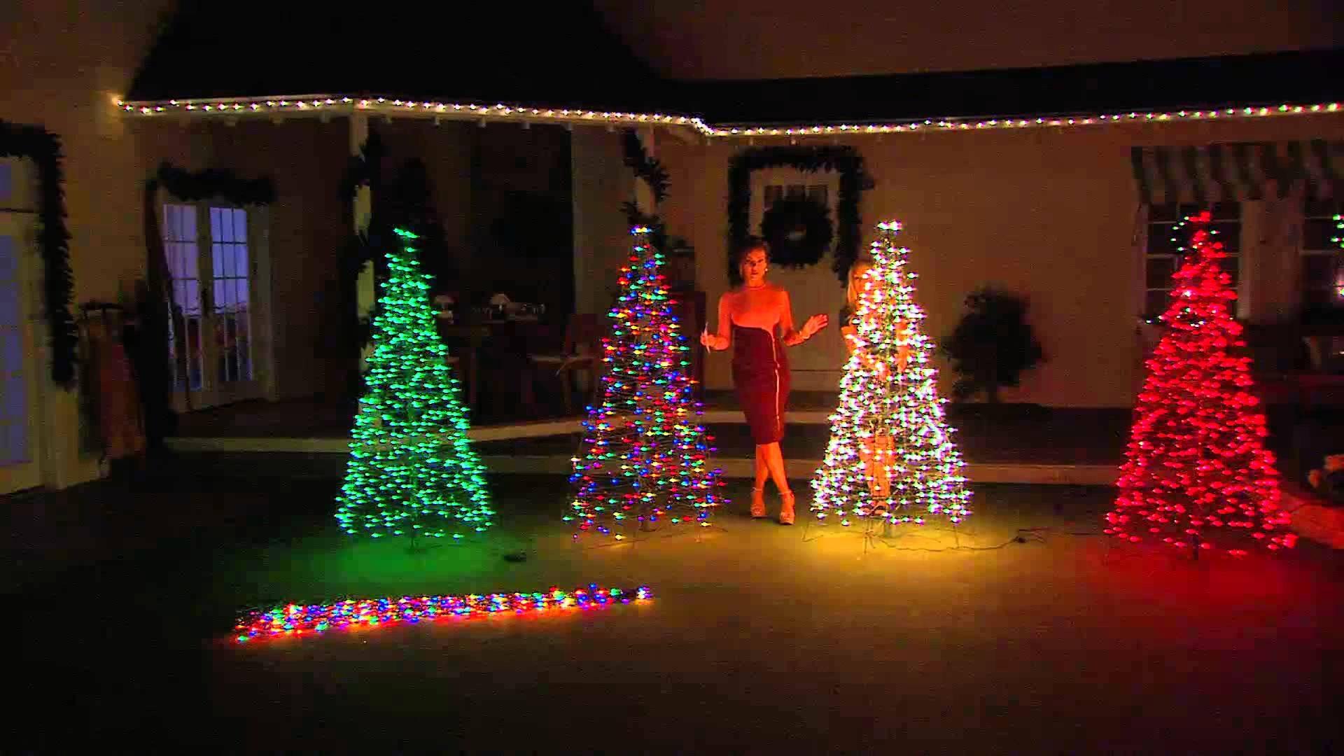 Outdoor Light Up Christmas Tree  Outdoor Lighted Christmas Tree