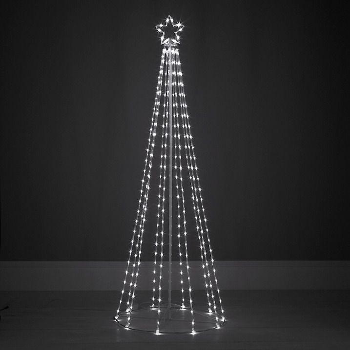Outdoor Light Up Christmas Tree  Contemporary maypole tube design outdoor Christmas tree