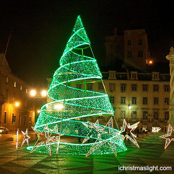 Outdoor Spiral Christmas Trees  Christmas outdoor led spiral christmas trees