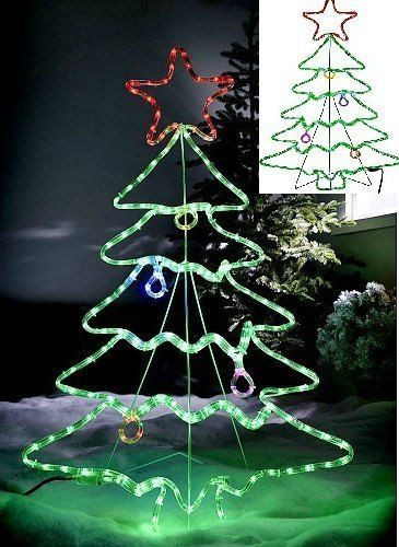Outdoor Spiral Christmas Trees  15 best Outdoor Spiral Christmas Tree 5Ft LED Rope Lights