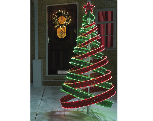 Outdoor Spiral Christmas Trees  6ft Spiral Christmas Tree Indoor or Outdoor Use 180cm Tall