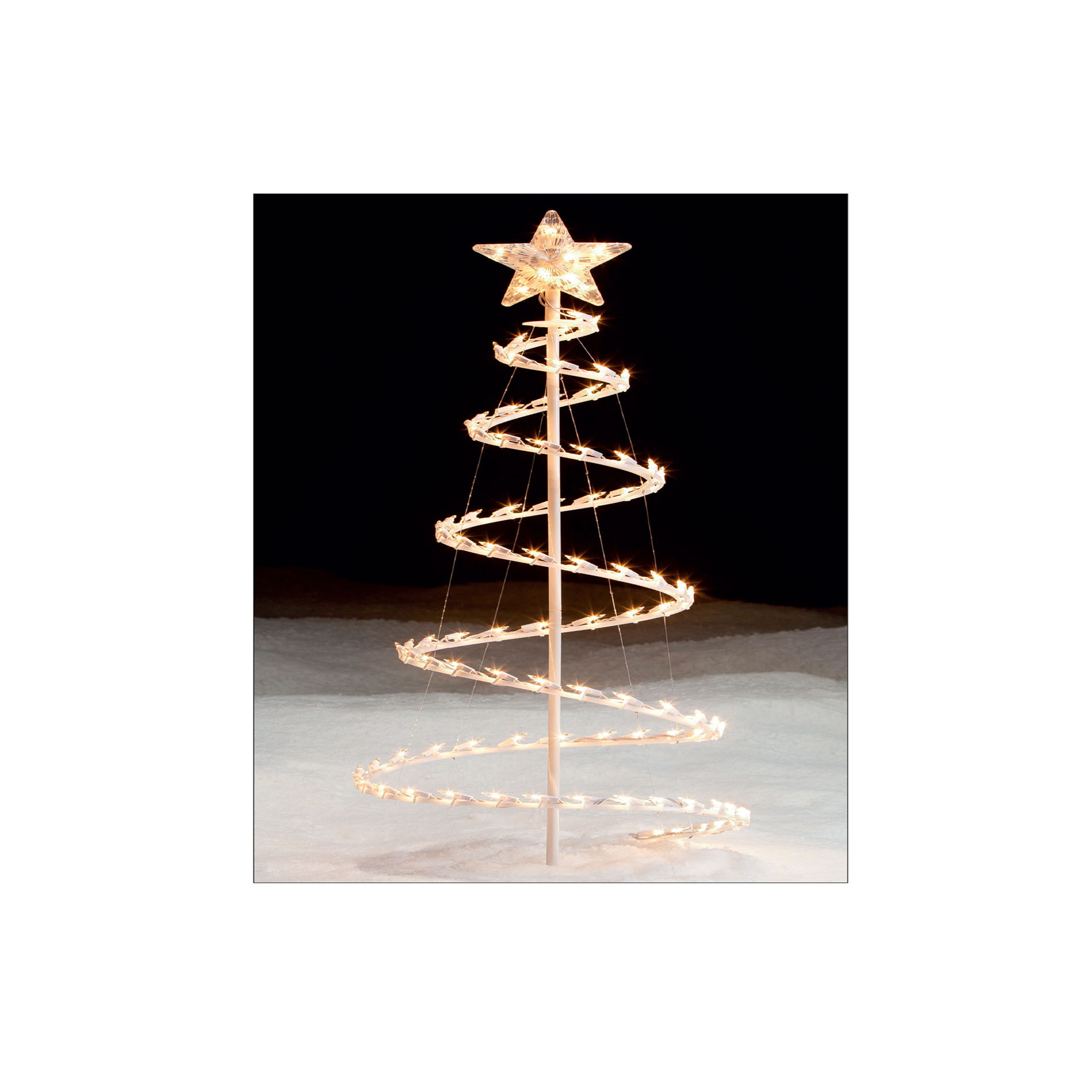Outdoor Spiral Christmas Trees  Lighted Spiral Christmas Tree Light It Up with Kmart
