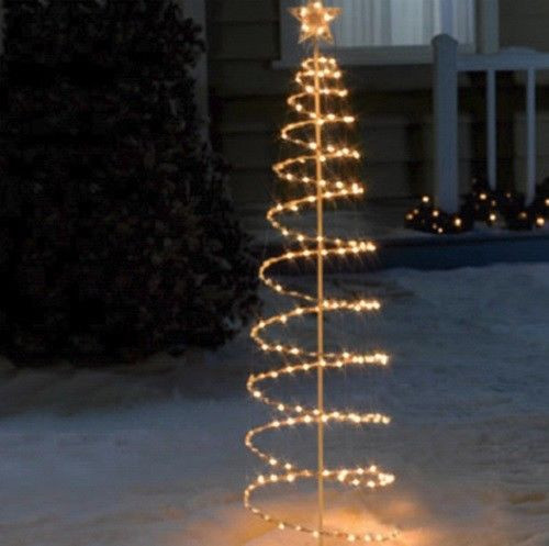 Outdoor Spiral Christmas Trees  Outdoor Lighted 6 Foot Spiral Christmas Tree Sculpture