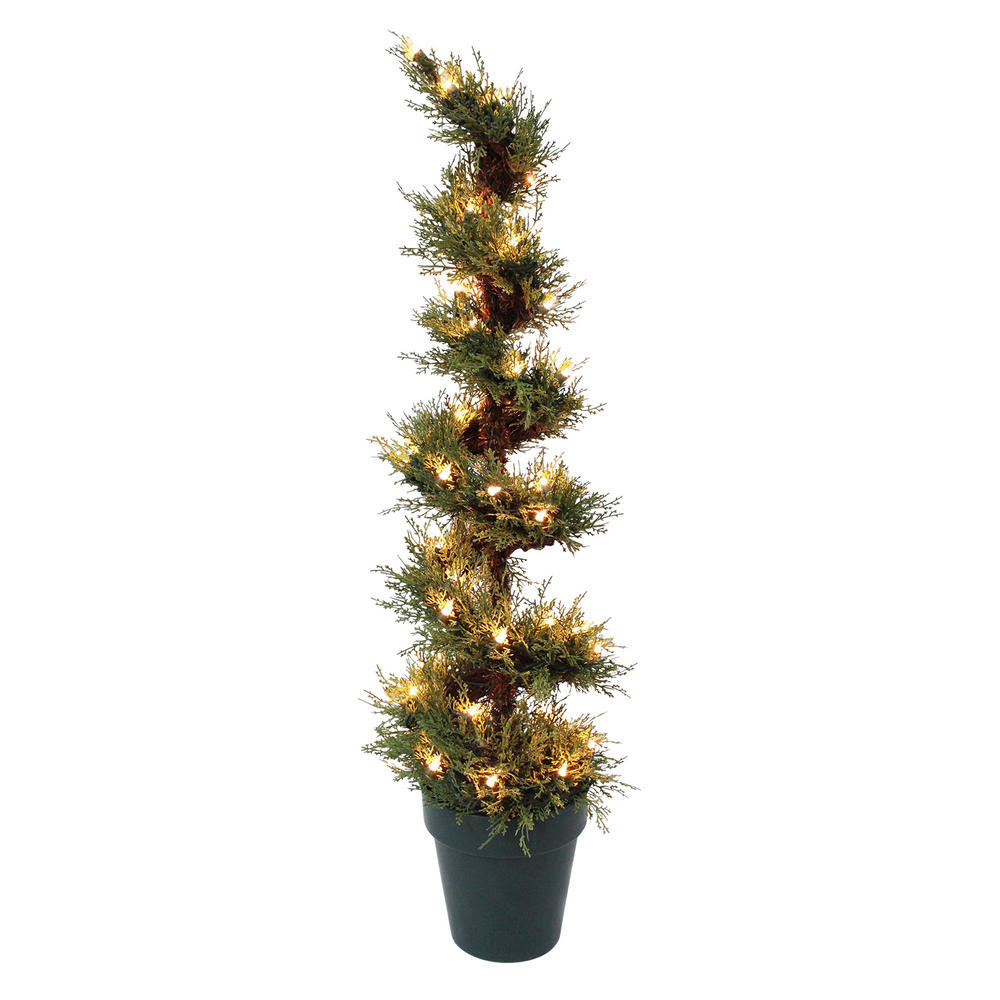 Outdoor Spiral Christmas Trees  3ft Pre Lit Spiral Shaped Christmas Tree Indoor Outdoor