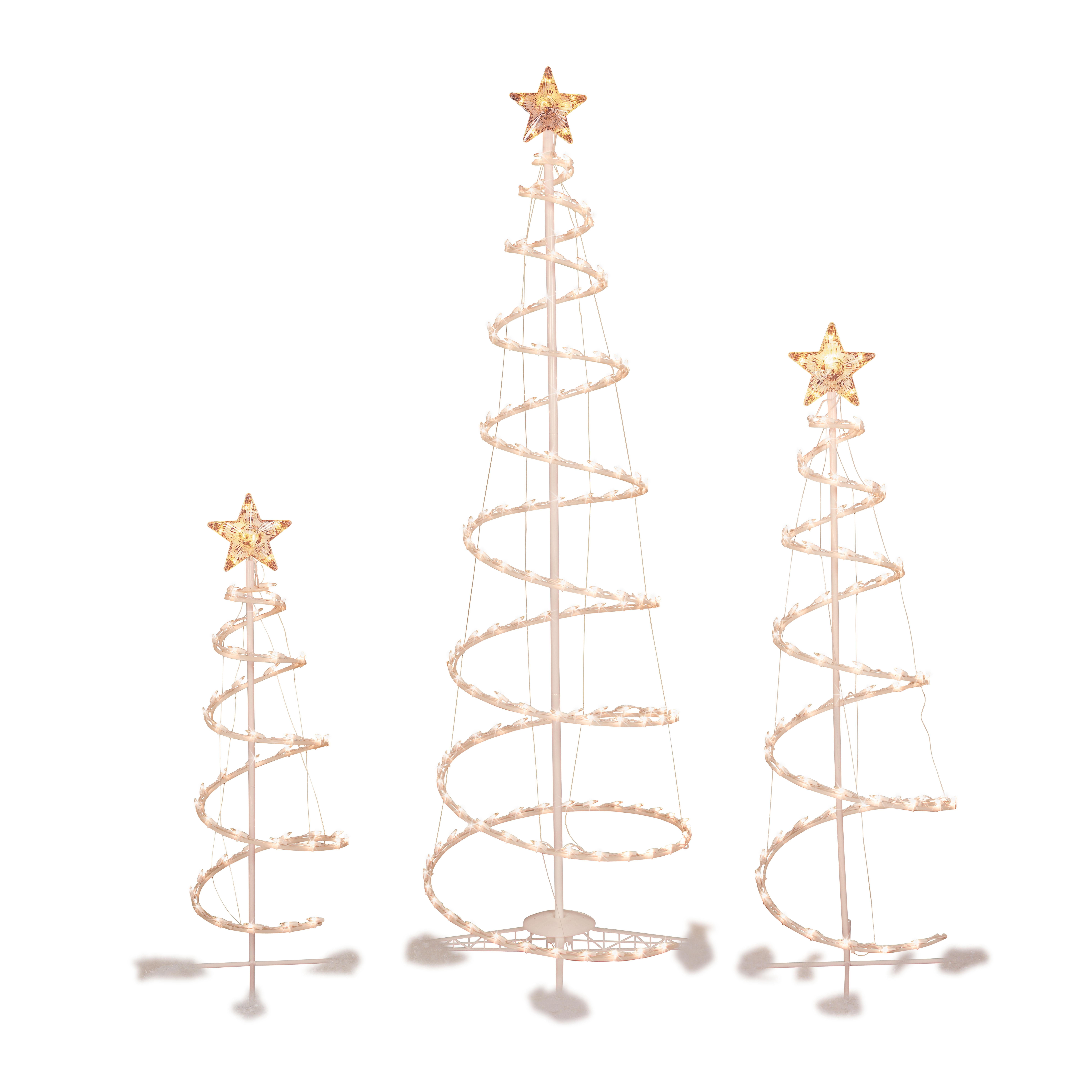 Outdoor Spiral Christmas Trees  3 4 And 6 Spiral Christmas Tree Set