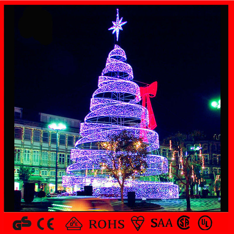 Outdoor Spiral Christmas Trees  China LED Outdoor Decoration Light Spiral Christmas Tree