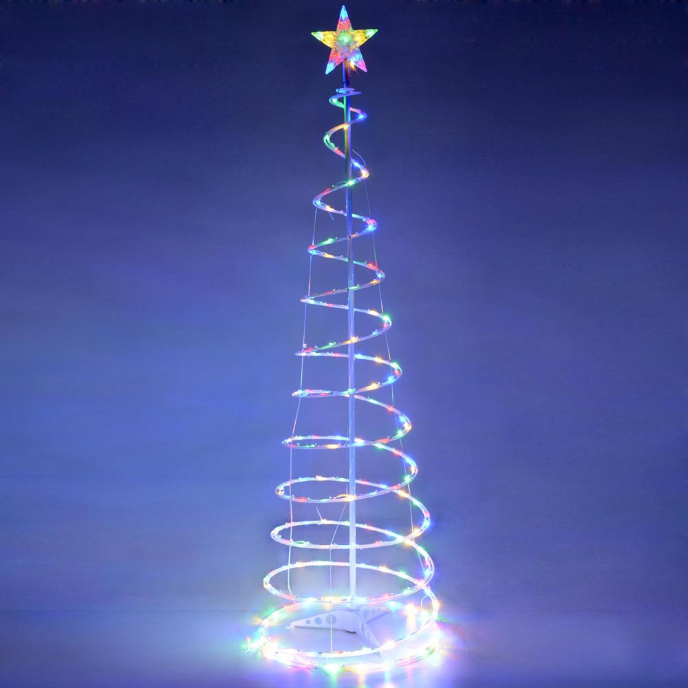 Outdoor Spiral Christmas Trees  6 Color Changing LED Spiral Tree Lights Outdoor Indoor