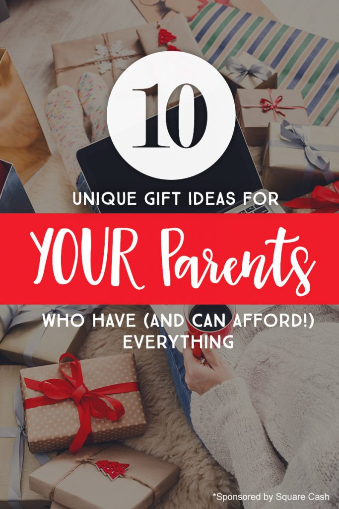Parent Christmas Gift Ideas  10 Unique Gift Ideas for YOUR Parents Who Have And Can
