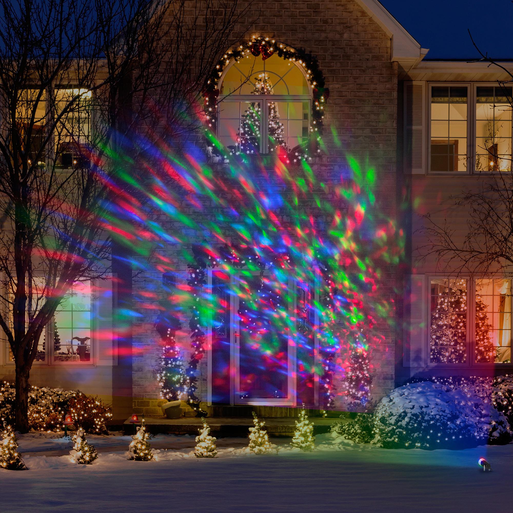 Patio Christmas Lights  Lightshow Kaleidoscope Multi Colored Christmas Lights Led