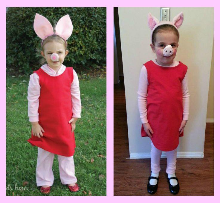 Peppa Pig Costume DIY  Peppa and Daddy Pig – A Halloween Costume Tutorial