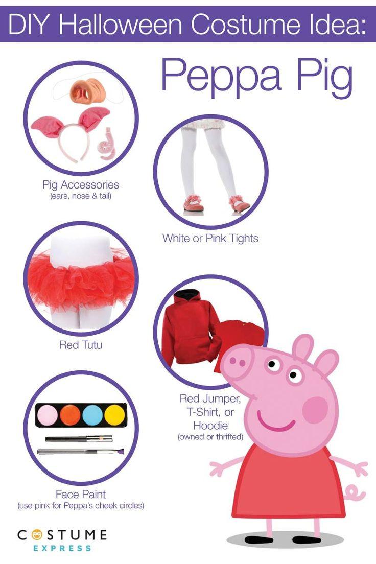 Peppa Pig Costume DIY  peppa diy 2 Crafts Pinterest