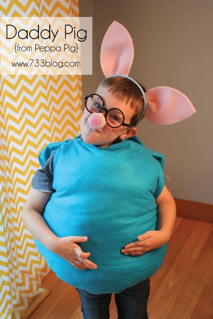 Peppa Pig Costume DIY  Daddy and Peppa Pig Costume Tutorial