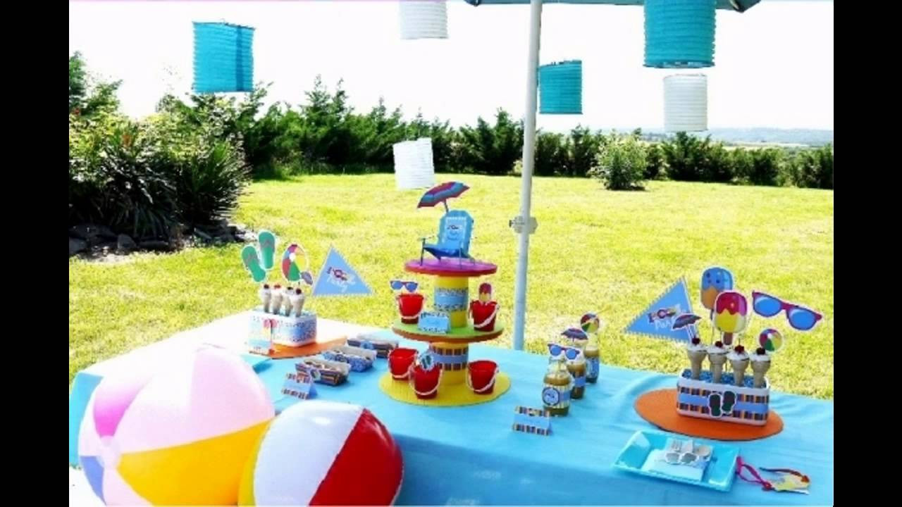 Pool Party Favors Ideas For Kids  Pool party decorations for kids